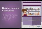 rotulagem para cosméticos