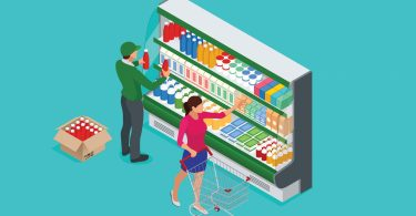 embalagem de comida congelada