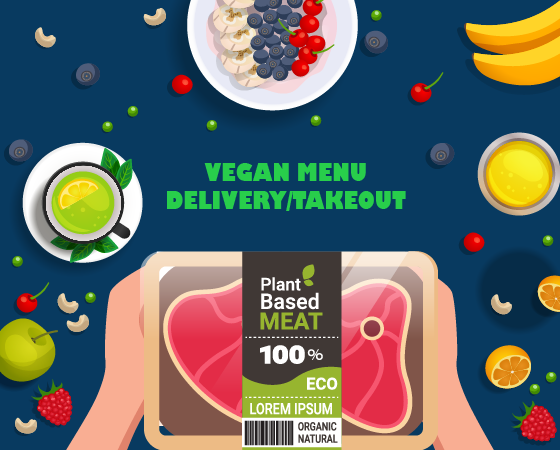 delivery de comida vegana